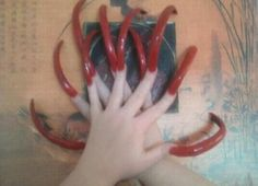 Sonya's Red Long Strong Nails Curved Nails, Sexy Nails, Strong Nails, Red Dragon, Perfect Nails, Scarf Hairstyles, Board, Planks