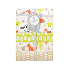 """Carter's 4 Pack Flannel Fox Print - Triboro Quilt Co. - Babies """"R"""" Us"""