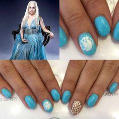 Daenarys Inspired Nail Art | Game Of Thrones Jon Snow Nail Art