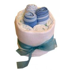 Baby Bib Bundle - Blue Nappy Cake | Baby Gifts  #Baskets. #Baby basket, #shower gift, #ideas for baby. http://www.heritagehampers.com/gift-types/baby-gifts-nappy-cakes/baby-bib-bundle---blue-nappy-cake---baby-gifts