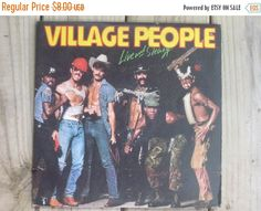 ON SALE Village People Live and Sleazy 1979 double album Vintage Vinyl YMCA Mike Myers Wall Art