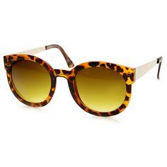 Oversize Womens Round Designer Fashion Sunglasses 9282   zeroUV