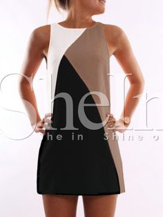 Shop White Black Sleeveless Color Block Dress online. SheIn offers White Black Sleeveless Color Block Dress & more to fit your fashionable needs.