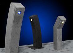 LED verlichting in een betonnen armatuur