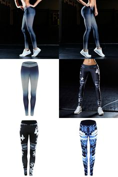 [Visit to Buy]   Women Sports Yoga Pants 3D Printed Jogging Gym Running Tights Exercise Female Fitness Sportwear Trousers Leggings #Advertisement