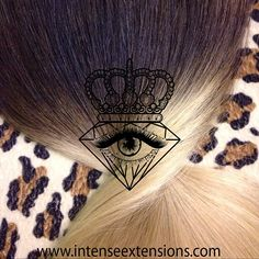 """Detail of this black brown to medium brown and quick ash toned light brown to platinum blonde quadruple wefted remy full head set in 22-24"""" available at www.intenseextensions.com"""