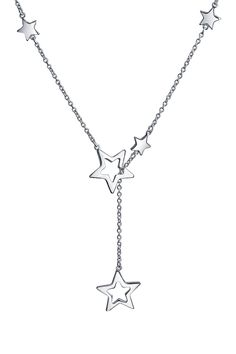 Sterling Silver Shining Star Lariat Necklace by Bling Jewelry on @HauteLook