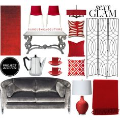 """""""Project Decorate: Sexy Glam With Honey We're Home"""" by baboushkacouture on Polyvore"""