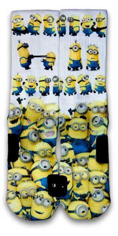 Minions Custom Elite Socks