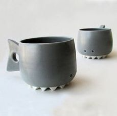 How adorable are these Chomps the Shark mugs? #MrCoffee