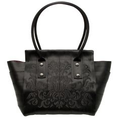 Harveys Marilyn Tote Handbag Black Damask - I tend to collect purses and this is my go-to. It's made of seat belts so it's really durable and it will also hold my laptop if I need to.