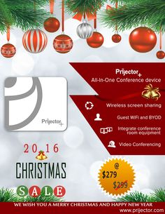 #christmas_sale #christmas_offer @prijector #wireless_presentation #wireless_screen_mirroring #screen_sharing #video_conferencing #BYOD #new_year #sale Merry Christmas And Happy New Year, Christmas Sale, Conference Room, Presentation, Technology, Videos, Tech, Tecnologia