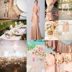Gold & Blush Wedding Inspiration - MYWVWEDDING.COM