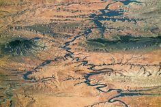 Lake Powell and Grand Staircase-Escalante This panorama photographed by an astronaut aboard the International Space Station shows nearly the full length of Lake Powell the reservoir on the Colorado River in southern Utah and northern Arizona. Note that the ISS was north of the lake at the time so in this view south is at the top left of the image. February 01 2017