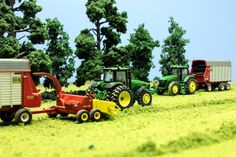 Holy Model Tractor Display!  This is a shock and awe toy model setup.  It makes my bucket of rice look like child's play.  Great job!