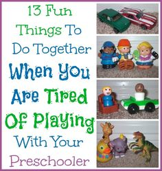 Really good ideas, because there are only so many train tracks you can build or baby dolls you can dress! Nice list of creative ideas to keep in mind when you need something fresh!