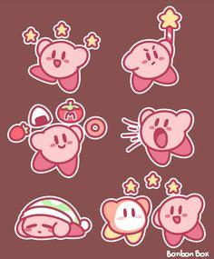 Kirby Sticker Set by BonbonBox on DeviantArt Kirby Character, Game Character, Character Design, Cute Animal Drawings, Cute Drawings, Super Smash Bros, Kirby Memes, Kirby Nintendo, Pokemon