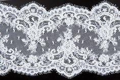 "Britex+Fabrics+-++7""+Beaded+White+Alençon+Galloon+Lace+-+Alençon+-+Lace+&+Trim"