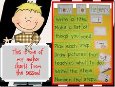 kinder gals anchor chart writing