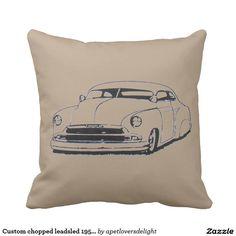 Custom chopped leadsled 1950's throw pillow