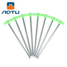 AOTU 6pcs Luminous Tent Nail Glow Tent Pegs C&ing Hiking Fishing Luminous Tent Nail Stakes Tent Peg Accessory  sc 1 st  Pinterest & New 50 Heavy Duty Metal Tent Pegs/Stakes Aluminium Hard Ground ...