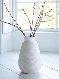 NEW Soft Geometric Earthenware Vase