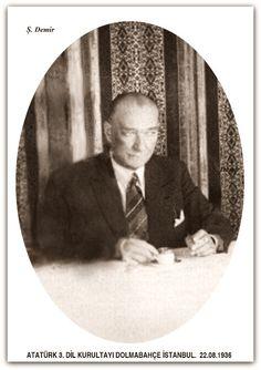 Atatürk 3.dil kurultayında Dolmabahce İstanbul. 22.08.1936