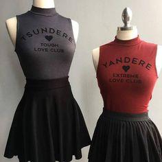 Yandere, and tsundere Grunge Goth, Dark Fashion, Gothic Fashion, Fashion Tips, Visual Kei, Yandere, Harajuku, Diy Vetement, Kawaii Clothes