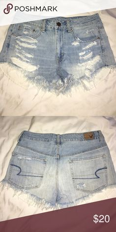 American Eagle shorts Light wash high wasted shorts American Eagle Outfitters Shorts Jean Shorts