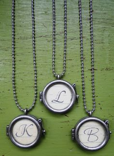 Easy to make, Inexpensive Initial Necklaces! Great Christmas gifts!
