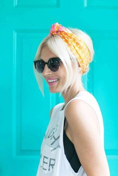 A knotted scarf updo for short, medium or long hair