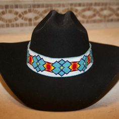 ea3c4c18fa6 I have always loved beaded hatbands and created these amazing and unique  ultra wide hatbands inspired