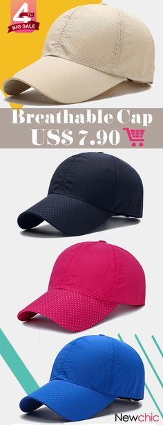 Men s Summer Adjustable Breathable Mesh Hat Quick Dry Cap Outdoor Sports  Climbing Baseball Cap is hot sale on Newchic. 838d32c935d7