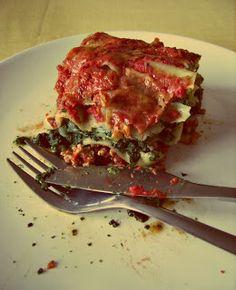 Lasagne ze szpinakiem i mozzarellą