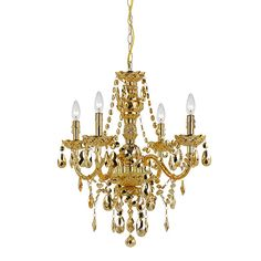 Elements Chrome Gold Four Light 21 Inch Wide Chandelier