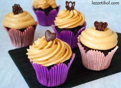 Karamel Soslu Brownie Cupcake Brownie Cupcakes, Mini Cupcakes, Muffin, Good Food, Food And Drink, Desserts, Recipes, Tailgate Desserts, Deserts