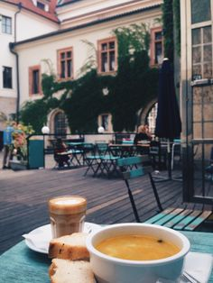 Café Neustadt, Prague, Czech Republic - Some peace and quiet in the middle of the hustle and bustle of Prague. #coffeearoundtheworld