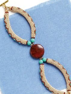 Canyon Bracelet; Jayashree Paramesh; Quick & Easy Beadwork, 2014 | InterweaveStore.com