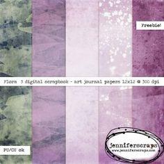Flora – Free digital art journal paper pack