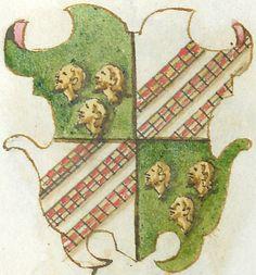 """Stemma Malatesta, da """"Famiglie venete con le loro armi"""", Biblioteca Estense, Modena."""