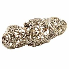 Gold,silver knuckle amour Hinged ring
