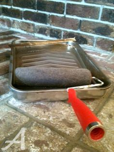 How to Stain Brick (Updating a Brick Fireplace) » Ask Anna-might have to try this one day.