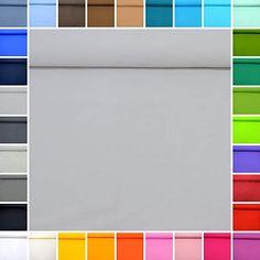 MAGAM-Stoffe Plain Jersey ''Marie'' Cotton Stretch Fabric in Best Öko-Tex Quality - Price per half Metre 28. Grey