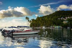 6 things to know about St Lucia. Boats in pretty harbour  #caribbean #island #travel #tips