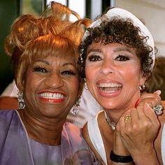 Celia Cruz And Rita Moreno Rita Moreno, Music Hits, New Music, Latin Music, Celia Cruz Sister, Pretty People, Beautiful People, Musica Salsa, Afro Cuban