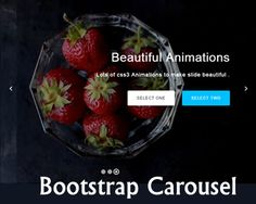 Bootstrap Carousel Touch Slider with Text Animation #slider #carousel #bootstrap #textanimation #gallery #javascript
