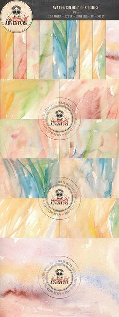 Watercolour Textures Vol02. Textures. $8.00