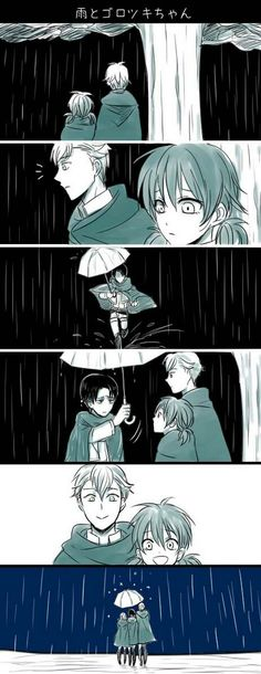 Its like when they are in the afterlife waiting for Levi And when he dies die, he has an umbrella to cover them from the sorrow and they all go off to the afterlife