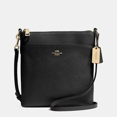NORTH/SOUTH SWINGPACK IN EMBOSSED TEXTURED LEATHER | Almost wish I could have one of these in every color - but the necessary color is black!