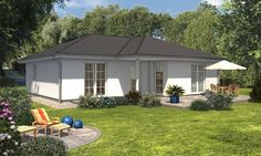 Winkelbungalow 108 Standard Town And Country, Shed, Floor Plans, Outdoor Structures, Outdoor Decor, Home Decor, House, Homemade Home Decor, Backyard Sheds